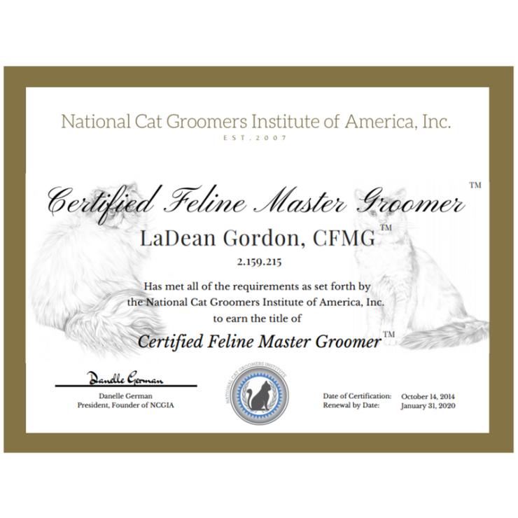 Purrocious Cat Grooming CFMG